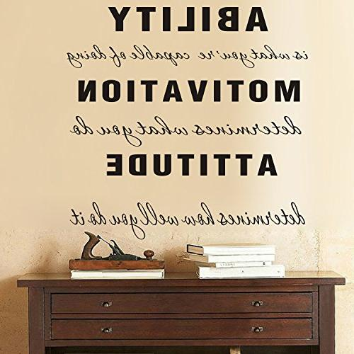 MAFENT Ability What You're of Motivation Decal Quote Decor