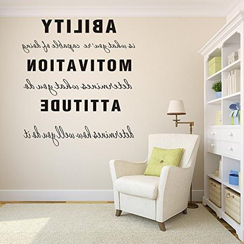 MAFENT You're Capable Motivation Attitude Family Decal Inspirational Quote Decor