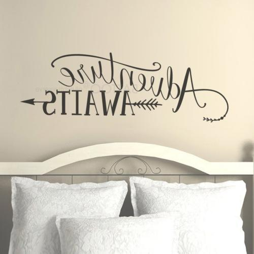 BATTOO Adventure Awaits Wall Decal Quote, Vinyl Lettering wi