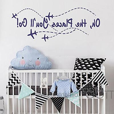 airplane wall decal oh the places you