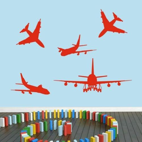 airplanes wall decal set planes transportation travel