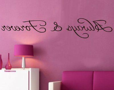 Amaonm® Always and Forever Large Wall Sticker Removable Vinly
