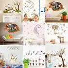 Animal Cartoon Wall Decals Baby Nursery Kids Bedroom Sticker