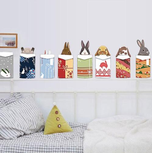animal in packed gift box rabbit decals