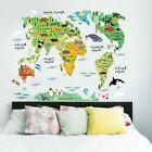 Animal World Map Wall Stickers For Kids Rooms Living Room Ho