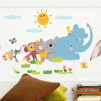 Animals Removable Wall Stickers Decals Art Baby Kids Bedroom