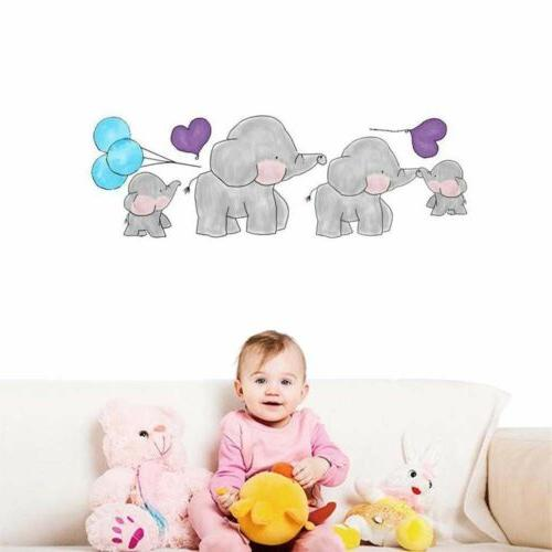 baby elephant cute animal wall sticker nursery