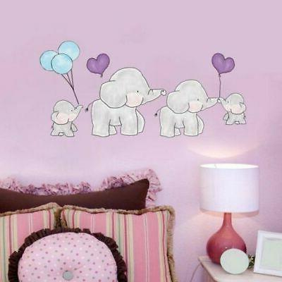 baby elephant with balloon wall sticker kids