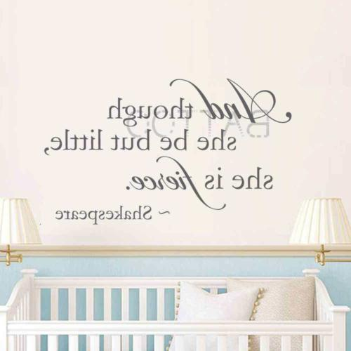 baby girl nursery wall decal and though