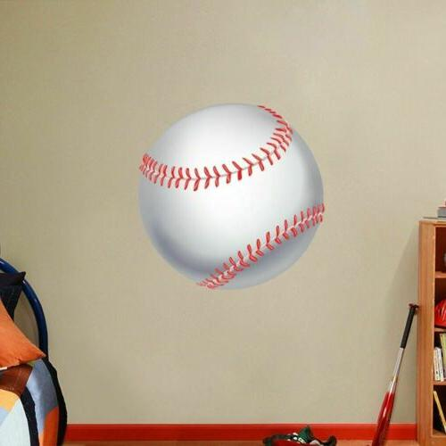 Baseball Printed Wall Decal - Sports Athletics Kids Room Murals
