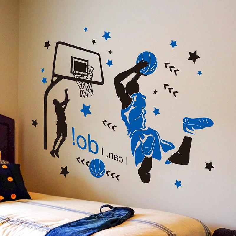 Player Stickers <font><b>Wall</b></font> <font><b>Decals</b></font> for Room Basketball Court
