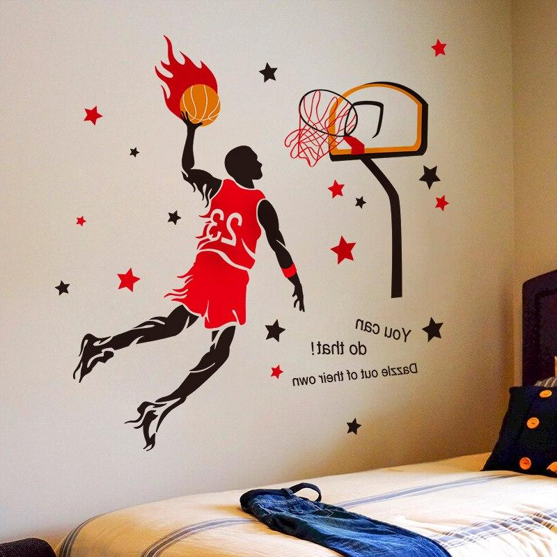 Basketball Stickers Creative Style <font><b>Wall</b></font> Room Basketball