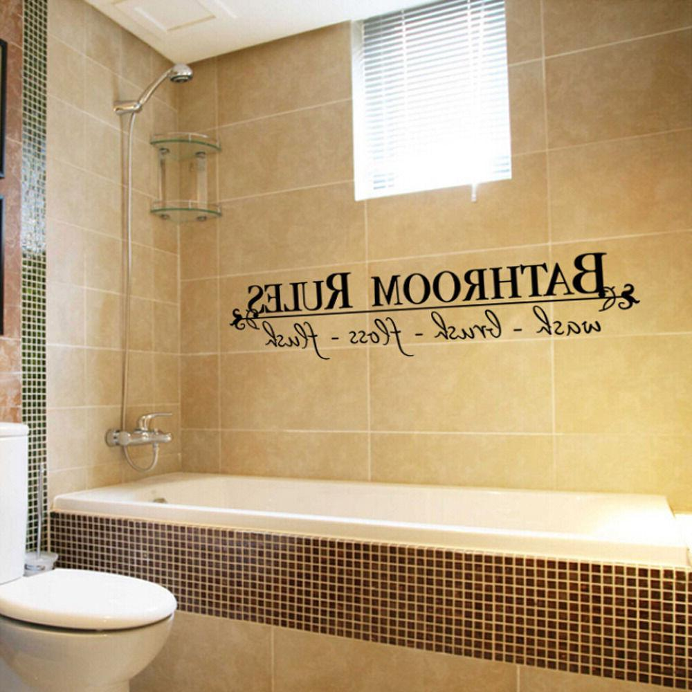 BATHROOM RULES Wall Art US