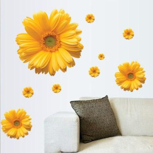 Bedroom Daisy Wall Decals Wall Stickers Decor Sticker Mural