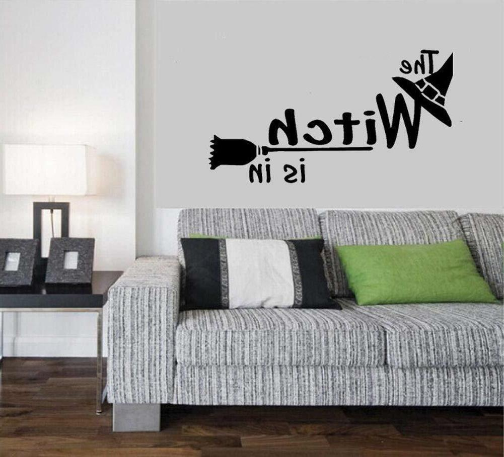 BIBITIME Halloween Wall Sticker the Witch is in  Decals for