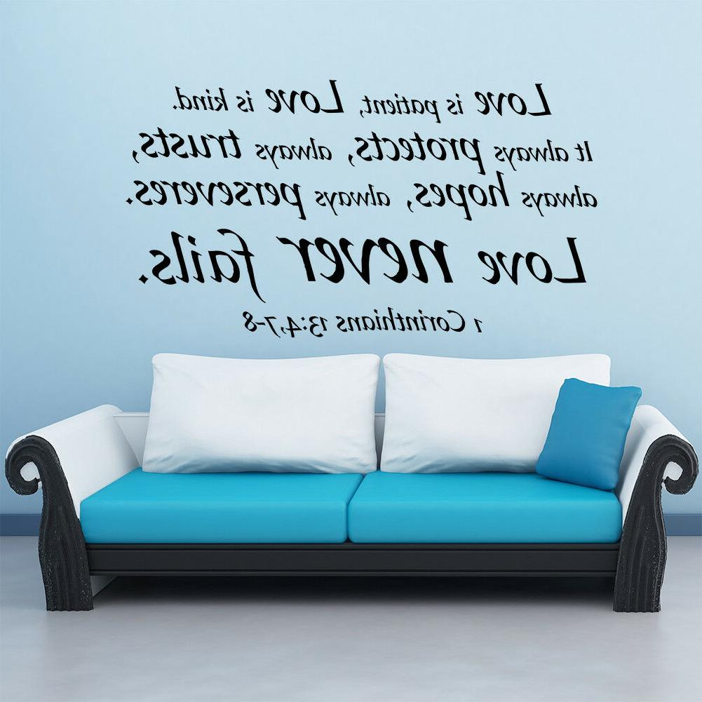 Bible Verse Wall Decals Stickers Decor Scripture Vinyl Art R