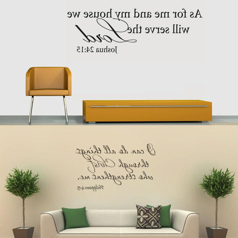 Bible Verse Word Vinyl Removable Quote Inspiration Decor