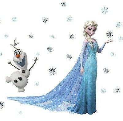 Big Frozen inspired Elsa & Olaf Removable Wall Decals Sticke