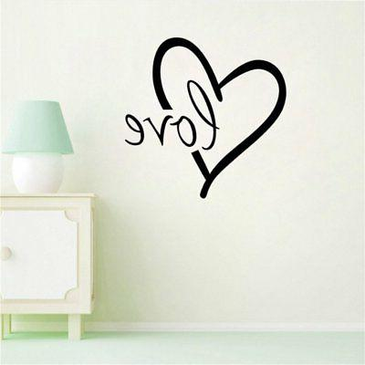 big heart decal stickers love wall sign