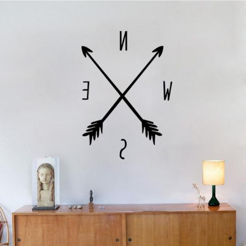 black arrows compass wall decals tribal nautical