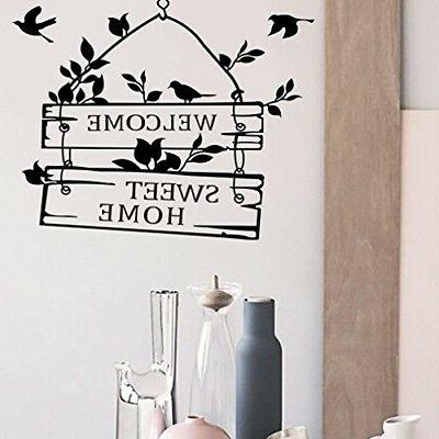 Decal Sticker Welcome Home X