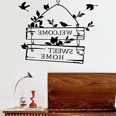 black birds wall decal sticker sayings quote