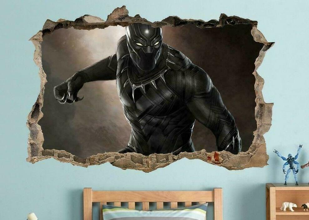 black panther captain america wall decal wall