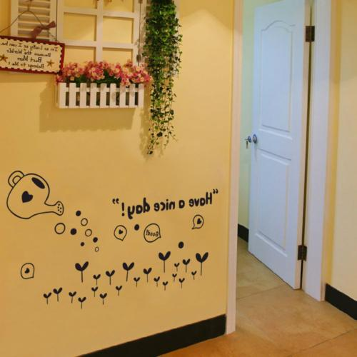 BIBITIME Black Grass Wall Quotes Have a