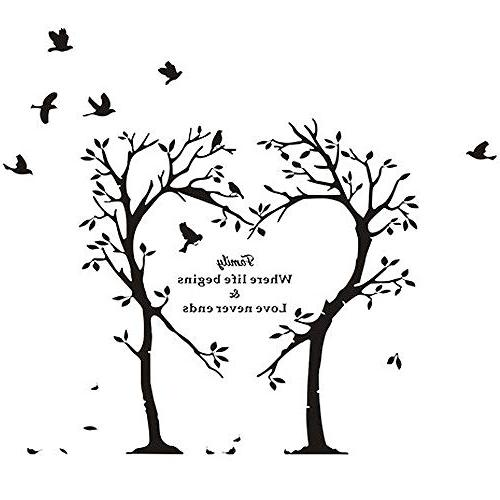boodecal series heart tree quote