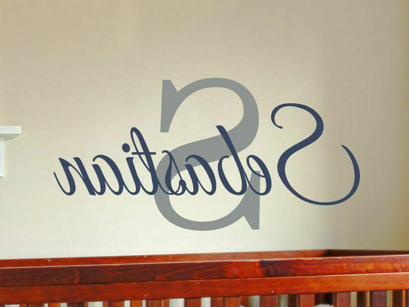 boys personalized name wall decal bedroom decor