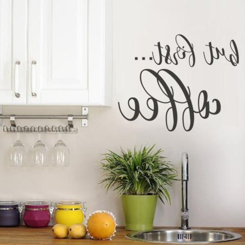 but first coffee wall decal kitchen decor
