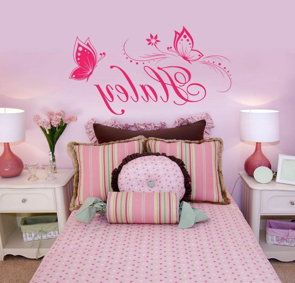 butterfly wall sticker personalized one name vinyl