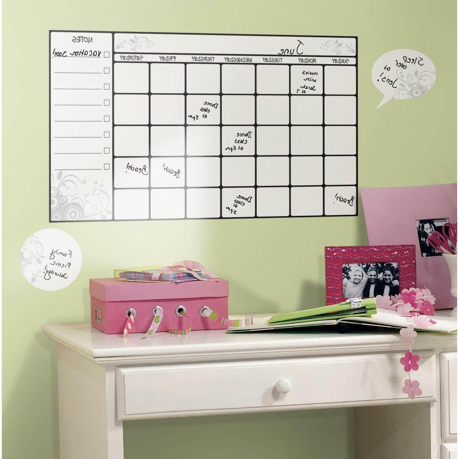 CALENDAR WALL 7 stick college decals