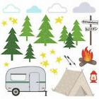 CAMPING 24 BiG Wall Decals TENT RV Woods Room Decor Stickers