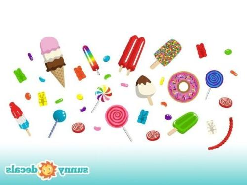 Candy Fabric Decals, Reusable, Decals