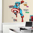 Captain America Marvel Comics Giant Peel & Stick Wall Decal