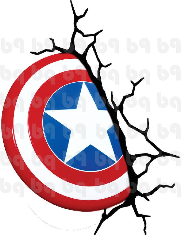 Captain America Shield Wall Decal Marvel Avengers Cracked