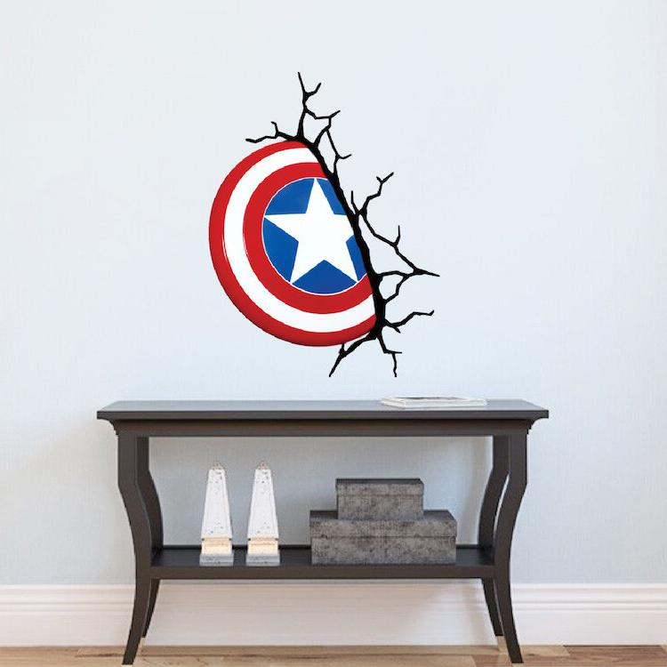 Captain America Wall Decal Marvel Comic Decals Avengers