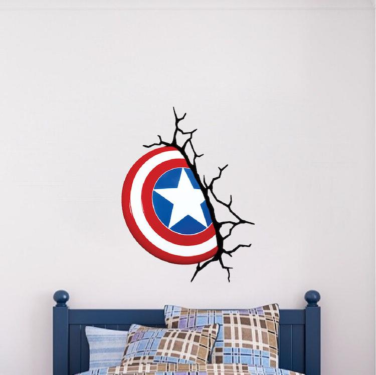 captain america shield wall decal marvel comic