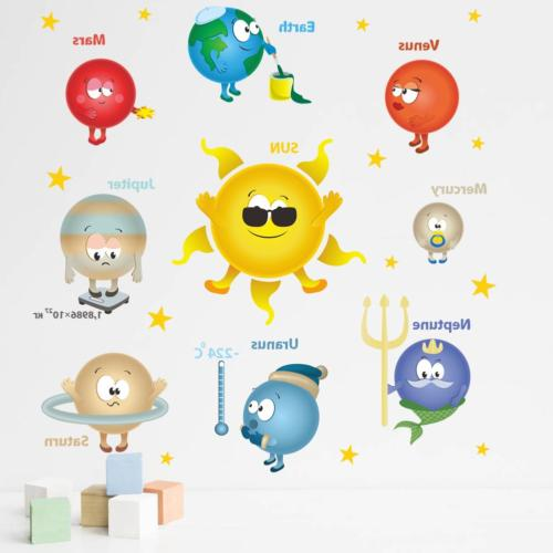 Amaonm Cartoon Mini Solar Decals Removable