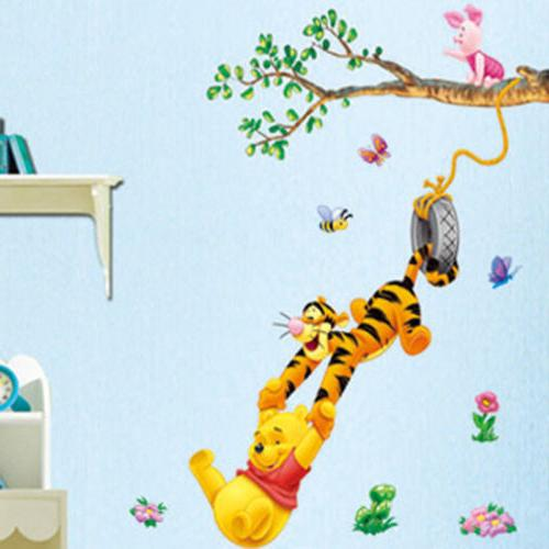 cartoon winnie the pooh wall sticker decals