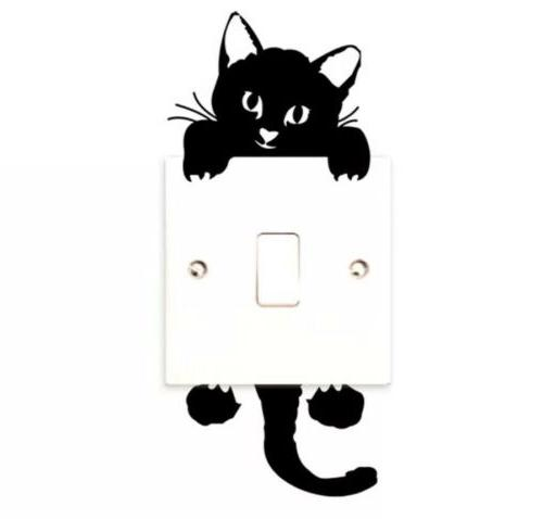cat wall stickers lightswitch decor decals art