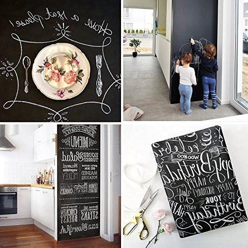 Extra Contact Paper Poster Blackboard Adhesive Chalk w/Bonus - and Wallpaper 78.7""