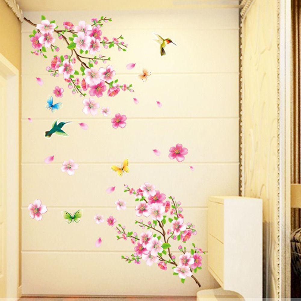 Cherry Tree Butterfly Wall Art Mural DIY Decals US