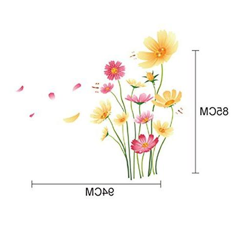 Chrysanthemums Wall Decal PVC Home Sticker Vinyl Decoration Room Bedroom Picture DIY Murals Girls kids Baby