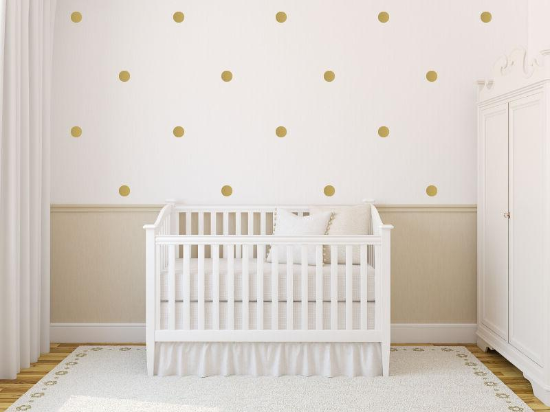 Circle Dots Wall Vinyl Decals - Set of 30, Multiple Sizes, C