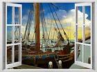 Classic Boat brand new MURAL 3d art stickers wall Decal for