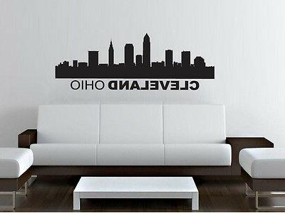 cleveland ohio skyline wall decal sticker home