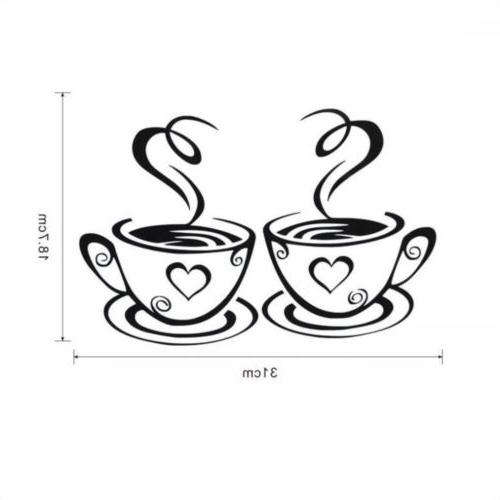 Coffee Wall Stickers Art Decal Kitchen