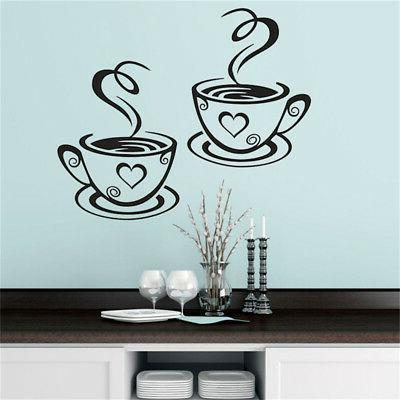 Coffee Wall Stickers Vinyl Decal Restaurant KZY